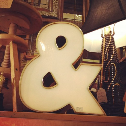 Does anyone want to give me $180 so I can buy this sweet ampersand lamp? (Lampersand, if you will.) (Taken with Instagram)