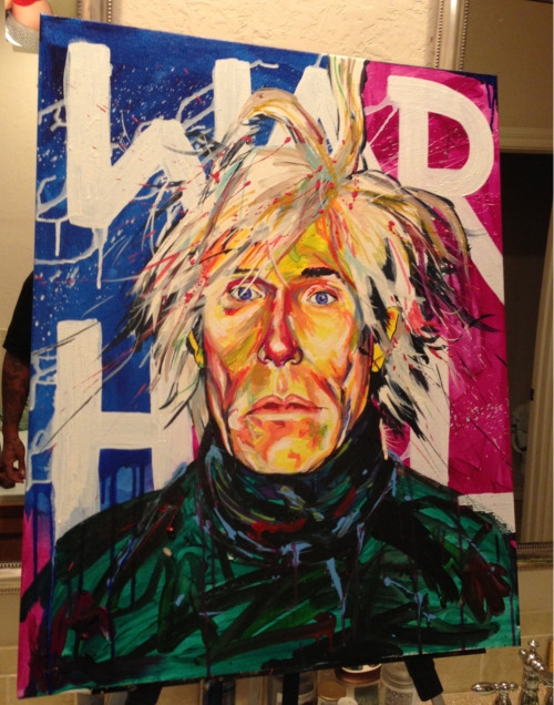 R. Peterson  Andy Warhol 24X30 cotton canvas