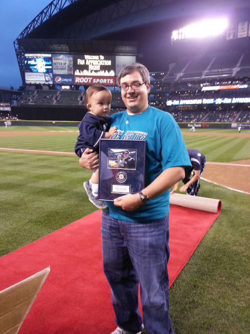 The award for Perfect Fan of the Year goes to 14-month-old Bode, whose father took him to both perfect games this year.