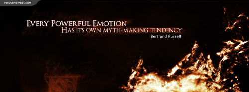 Bertrand Russell Powerful Emotions Quote Facebook Cover