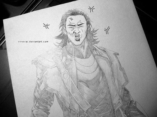 Because I can XP the fact is I cannot draw Loki's face the way I WANTED…