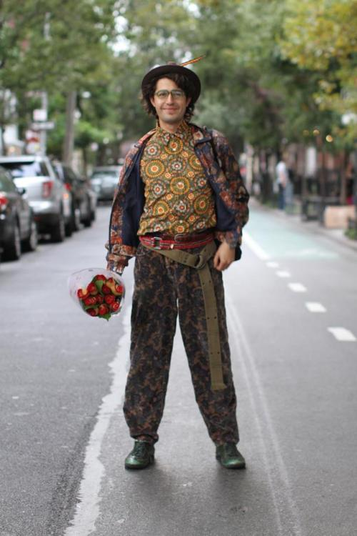 "humansofnewyork:  ""I'm trying to overwhelm people with flowers before the summer ends."""