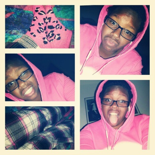 All pink everything :) #Pink #Hoodie #PJs  (Taken with Instagram)