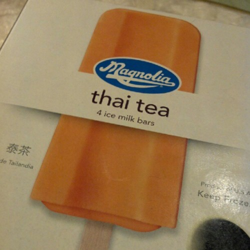 On. Point. #thaitea #magnolia (Taken with Instagram)