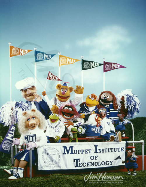 The gang promoting the Muppet Institute of Technology, 1985.