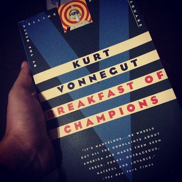 Can't get enough of Vonnegut… #breakfastofchampions #vonnegut #books  (Taken with Instagram)