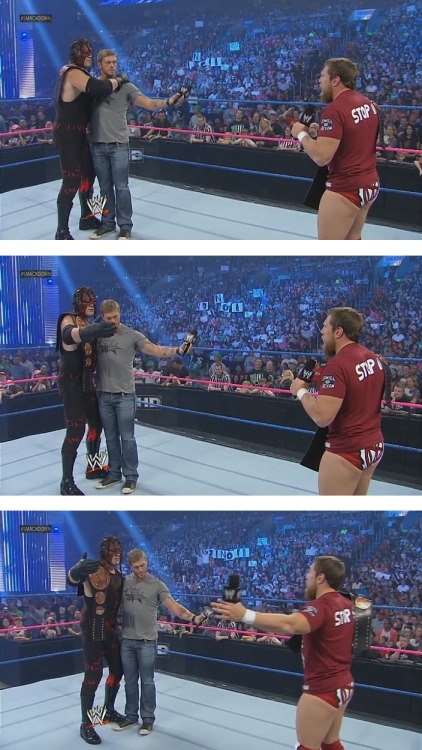 "turnbucklezine:  But no, really guys, last night's Smackdown may have been the best Smackdown.  ""Come aboard, bitch. We're going to fix tag-team division, and SmackDown itself."""