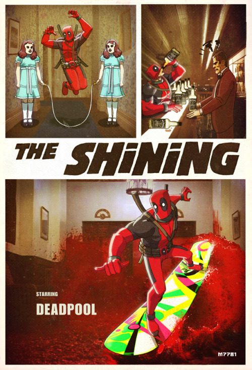 all play and no work makes deadpool a great character. see more superhero/stephen king mashups here.