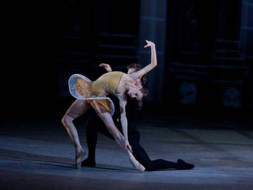 Semyon Chudin and Kristina Kretova in Classical Symphony. Photo by Elena Fetisova.