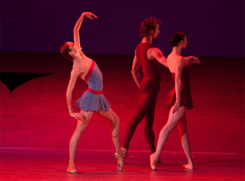 Ekaterina Shipulina, Semyon Chudin, and Maria Alexandrova in Dream of Dream. Photo by Elena Fetisova.