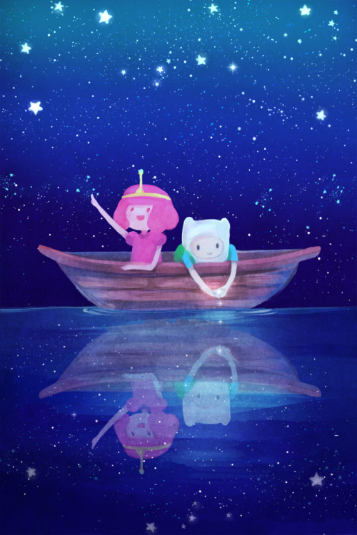 Princess Bubblegum and Finn… or Me and James