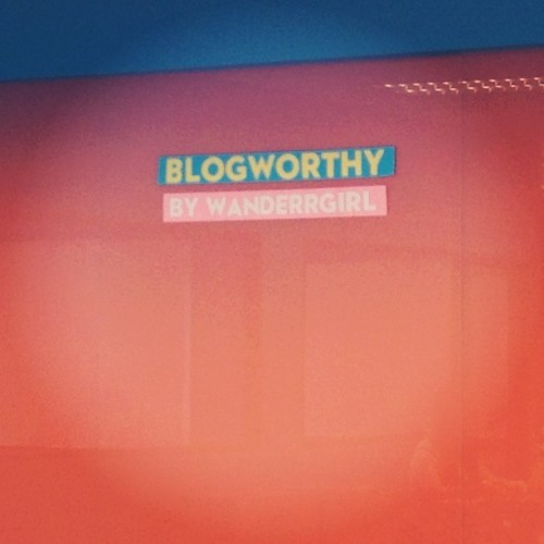 I had the best time at #Blogworthy. Can't wait for next week's session. ☺ (Taken with Instagram)