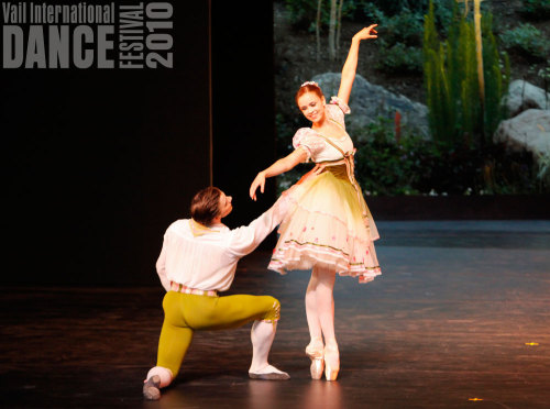 thedailyballet:  Alban Lendorf and Hilary Guswiler in the Flower Festival Pas de Deux. Photo by Erin Baiano.