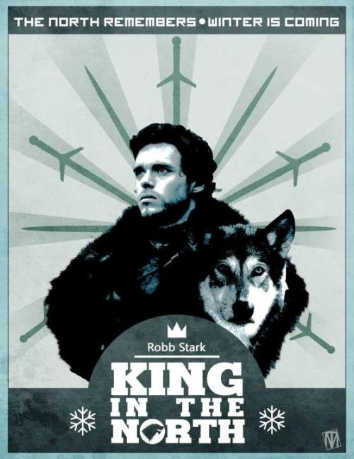 gameofthrones:  King In The North! Art by Magus.