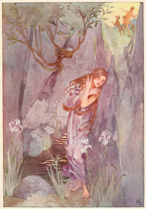 Echo and Narcissus illustrated by Helen Stratton.