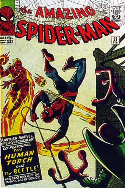 Amazing Spider-Man #21 - Human Torch  Beetle  Spiderman