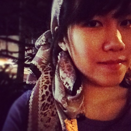 Loving the scarf @justinleo89 's mom got for me from Korea 😊 (Taken with Instagram)