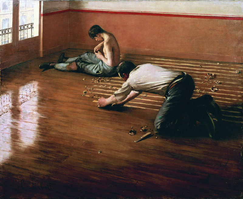 poboh:  Floor Scrapers, 1876, Gustave Caillebotte. French Impressionist Painter (1848 - 1894)
