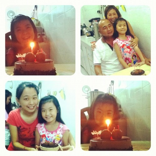Happy 7th birthday to my little cousin sis! 💜 (Taken with Instagram)