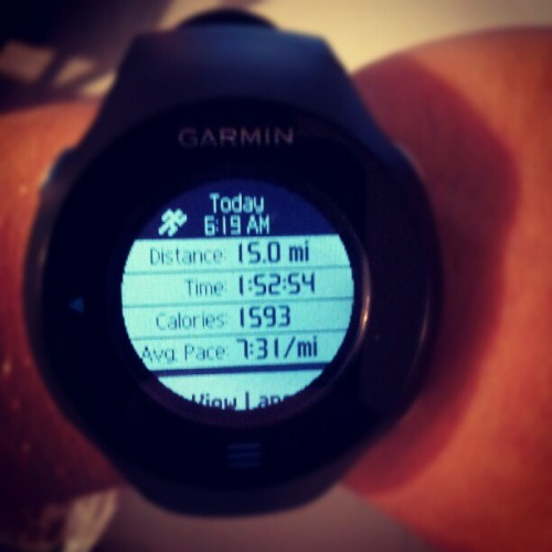 Enjoyable Saturday morning run in the pouring rain! (Taken with Instagram)