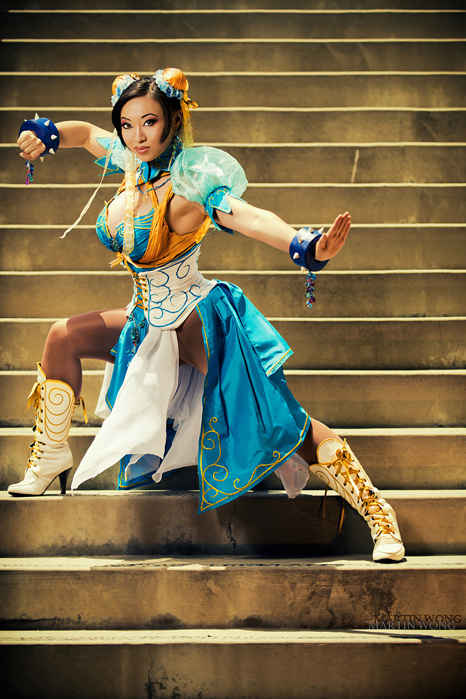cosplayblog:  Lady Cosplay Blog 2011-2012 Week (Day 6): Art Nouveau Chun Li (designed by Razvan-Sedekiah) from Street Fighter Cosplayer: Yaya Han [WW / TM / TW / dA]Photographer: Martin Wong [dA / FB]