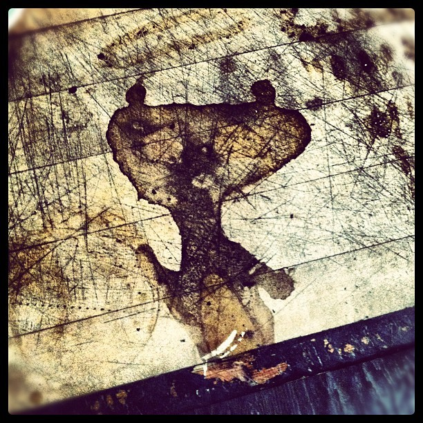 Coffee stain counter panda (Taken with Instagram)