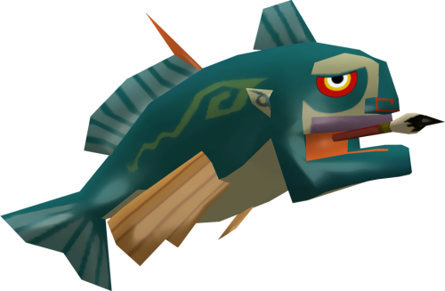 saveroomminibar:  The Legend of Zelda: Wind Waker. The Merman Figurine.