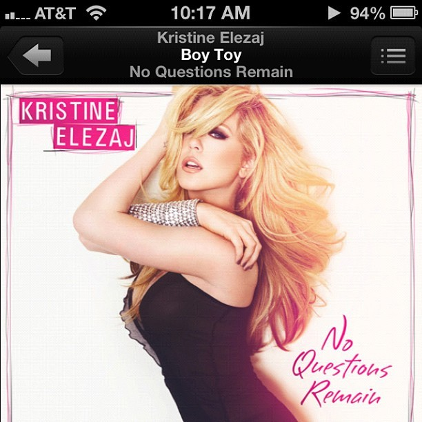 """Let it go, give up control cause baby I'm your operator"" @kristineelezaj Still gets me going at the #gym Can't wait for #MONSTER! #photos #music #kristineelezaj #noquestionsremain #boytoy #elezaj2012  (Taken with Instagram)"