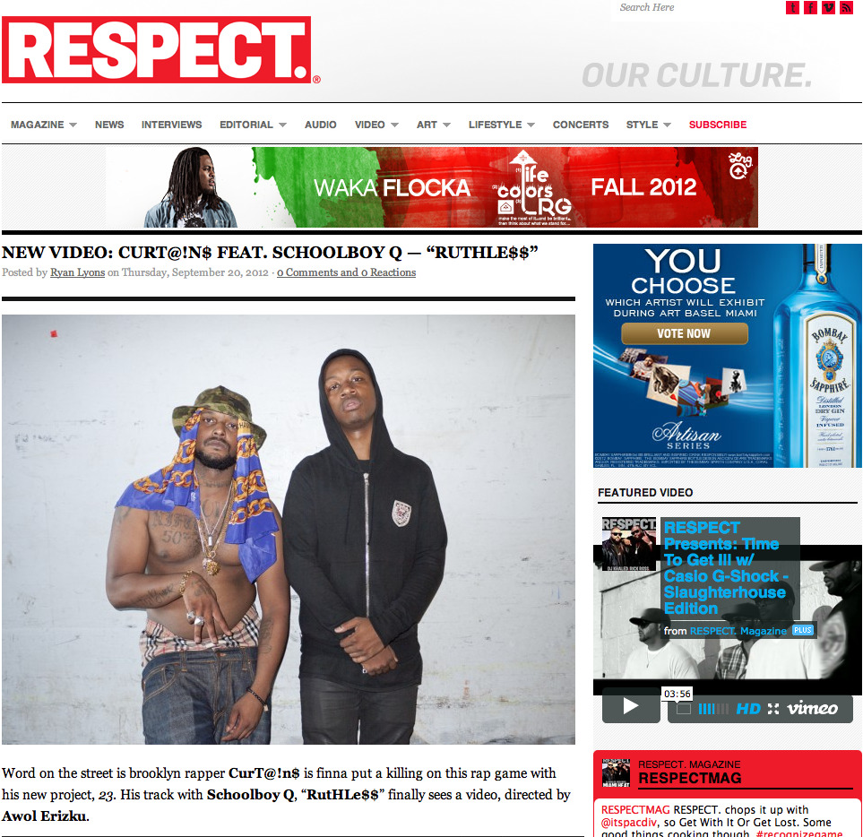 RuTHLe$$ on RESPECT MAGAZINE