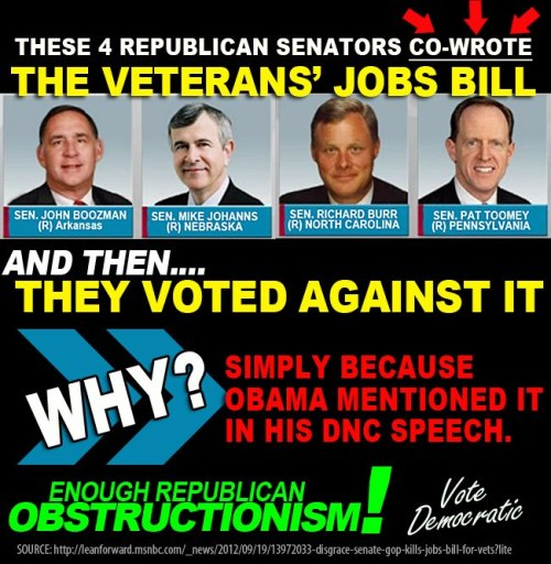 liberalsarecool:  Republicans obstruction needs to end Nov 6. Vote Democrat.