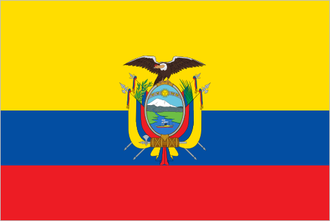 "flaglog:  Ecuador (1860-Present) The flag of Ecuador was adopted on 26 September 1860, around a year before neighbouring Colombia adopted its nearly identical flag. Both flags were based on the first flag of Gran Colombia, which was itself based on the original flag of Venezuela.  I've just discovered that Ecuador is so named because the full name is ""República del Ecuador"" which means ""Republic of the Equator."" That's why they've always sounded so familiar."