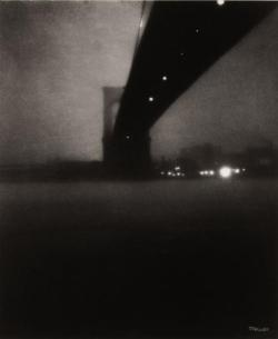 cavetocanvas:  via co-mag:  Brooklyn Bridge, 1903 From The pictorialism and modernism of Edward Steichen and the malediction of Ansel Adams. A review of Edward Steichen retrospective at Jeu de Paume, Paris.
