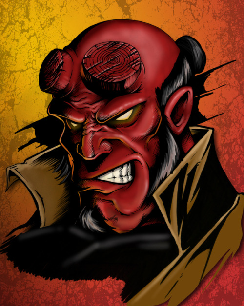 Hellboy Inked - by Chris Garcia