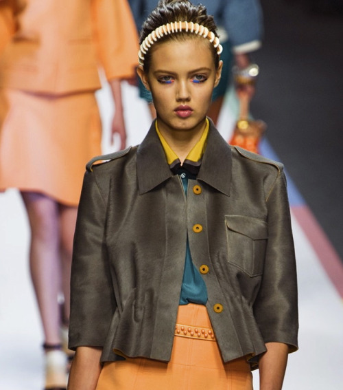 Lindsey Wixson at Fendi S/S 2013