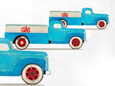 (via Dribbble - Gas Truck by matt hochleitner)