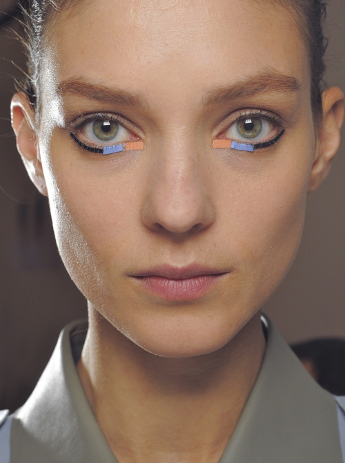 Kati Nescher backstage at Fendi S/S 2013