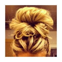 messy buns | Tumblr   ❤ liked on Polyvore