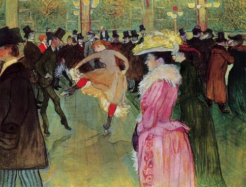 deadpaint:  Henri Toulouse-Lautrec, Dance at the Moulin Rouge