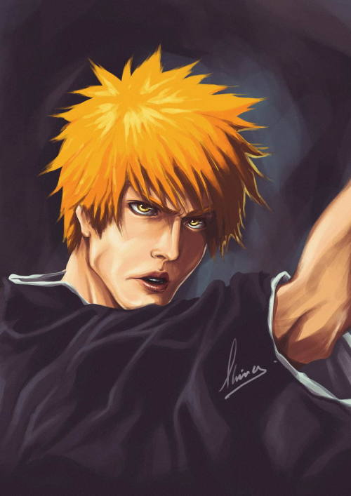 The CG version of character Ichigo Kurosaki from Bleach comic.