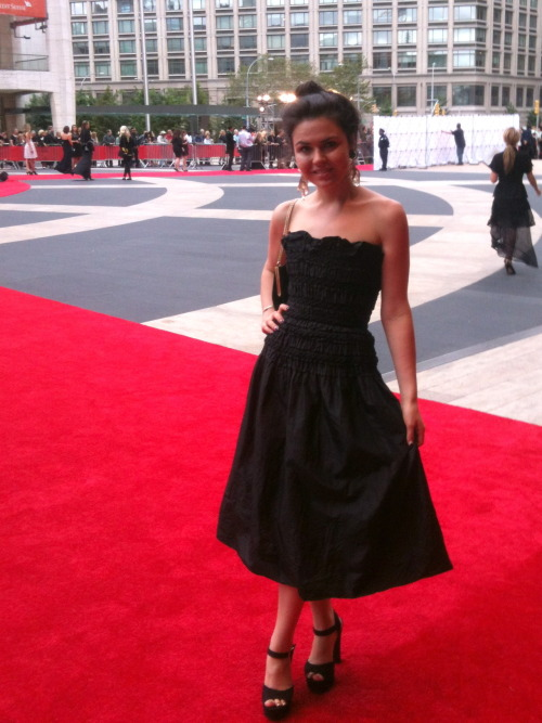 On the red carpet at the New York City Ballet Fall 2012 opening night—Valentino designed the costumes for one night only! More Fashion Photos: Styled By Emma