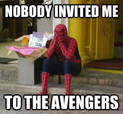 nerdom-abound:  Lol poor Spidey