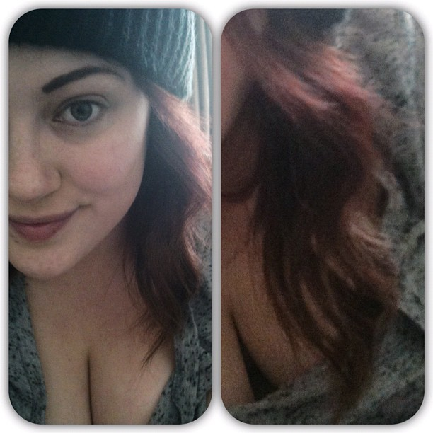 Quite like how my hair has come out today.  #hair #face #nomakeup #natural #curly #red #personal #hotd #motd #instadaily #eyebrow #half #life #nice #mong  (Taken with Instagram)