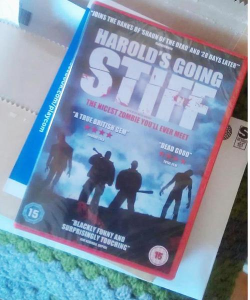 "Today I caught a look at the front cover of the Harold's Going Stiff DVD front cover and I was delighted to see a quote from my review of the film (""A true British gem"") is there on the front from HorrorTalk. It even gets in there before Total Film. This has made me very happy! Now go and order the film, it will be the best thing you do today.   DVD is out on Monday!"