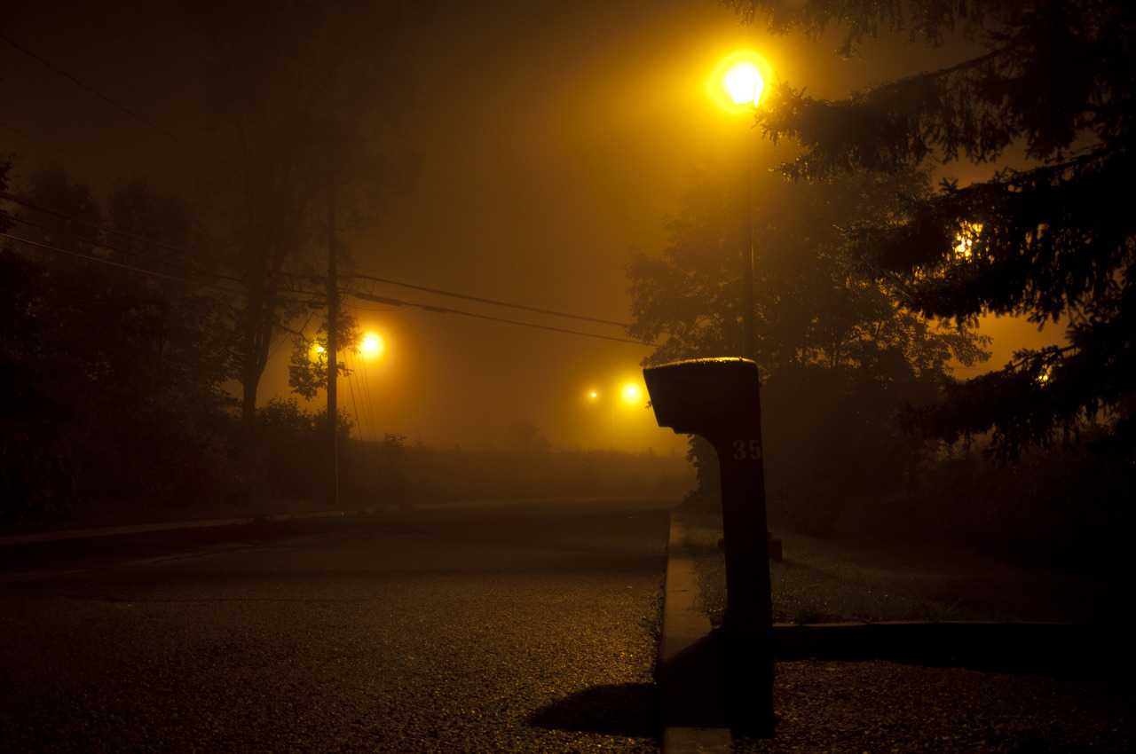 Last night was all foggy so I had to get out and try the school's camera that I borrowed.