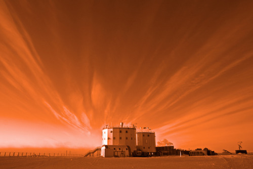 The Red Planet by ESA_events on Flickr.Via Flickr: Add a red filter and Concordia base looks like it could be on Mars. Credits: A. Kumar