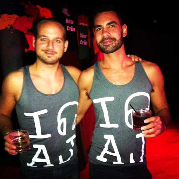 boyfriends in DC sporting matching AJ tank tops.. I died!  (Taken with Instagram at Town Danceboutique)
