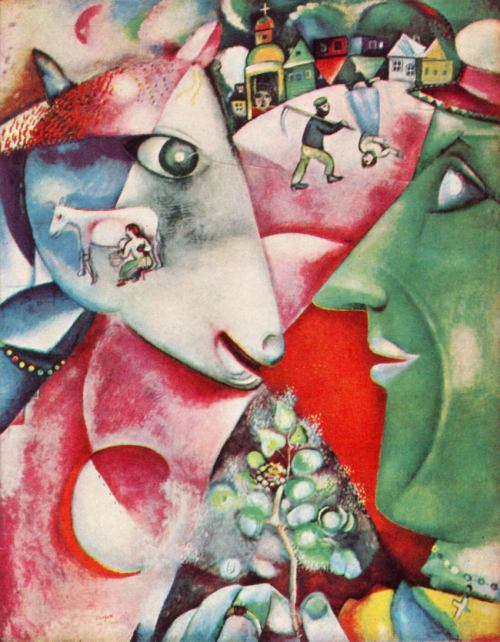 deadpaint:  Marc Chagall, I and the Village  I love Chagall.