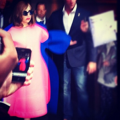 Lady Gaga leaving her hotel (22nd September)
