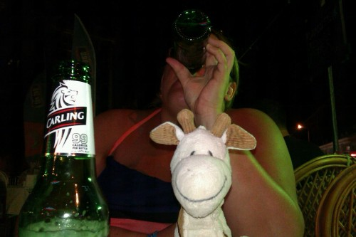 Melman loving his holiday.