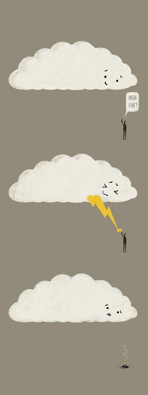 phildesignart:  Cloud High Five by Phil Jones
